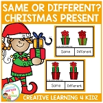 Same or Different Christmas Present Clip Cards ~Digital Download~